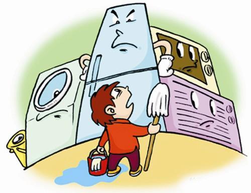 家用电器在潮湿的地方使用电器容易造成外壳锈蚀,绝缘下降,电路短路故