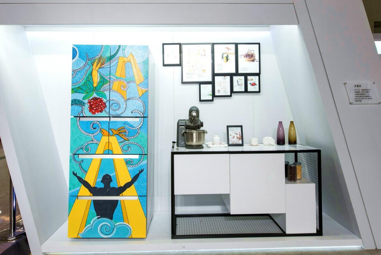 彩绘冰箱展示