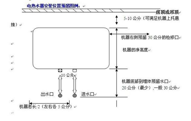 清晰图解电热水器的安装-现代家电网