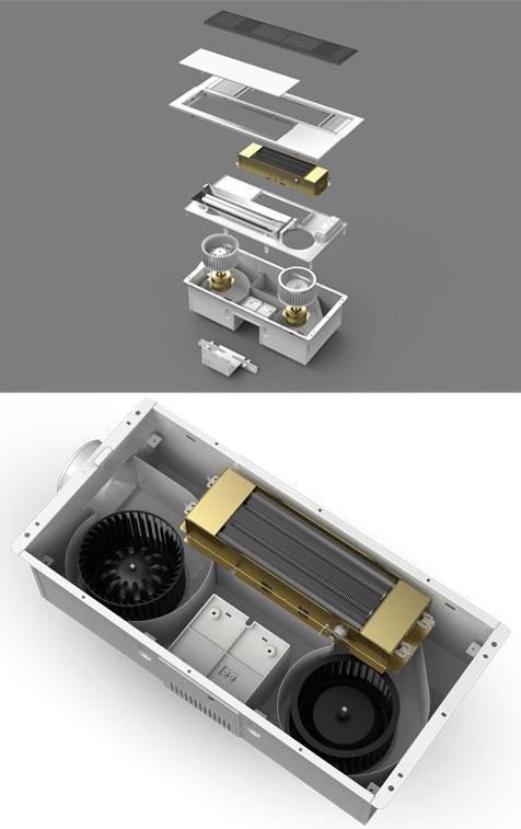 奥普纯平浴霸产品构造图及内部构造图
