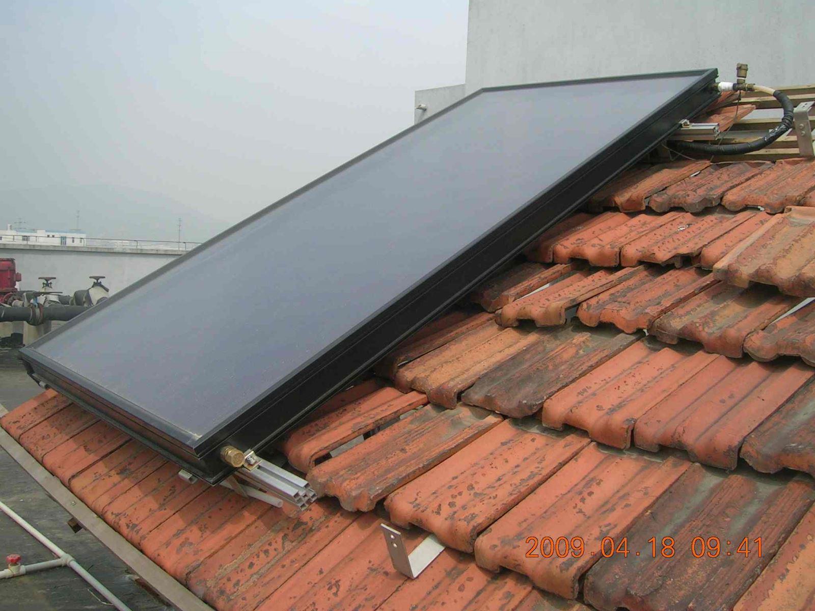 民用平板太阳能热水器及管道安装施工工艺
