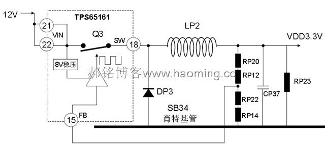 等效电路如图3.1所示.                  图3.2            图3.